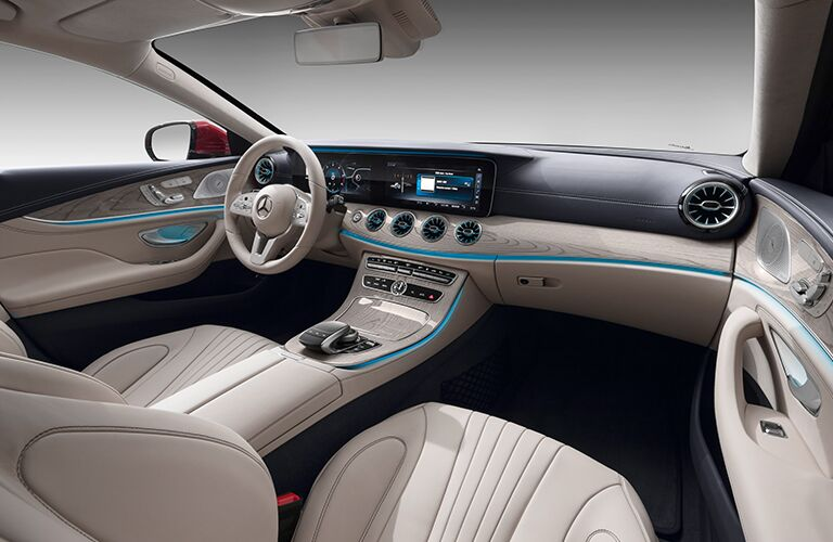 2019 MB CLS Coupe interior front cabin steering wheel and dashboard