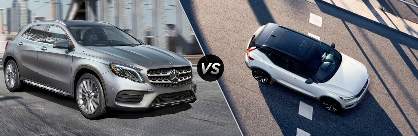 2019 Mercedes-Benz GLA SUV in Silver vs 2019 Volvo XC40 in White