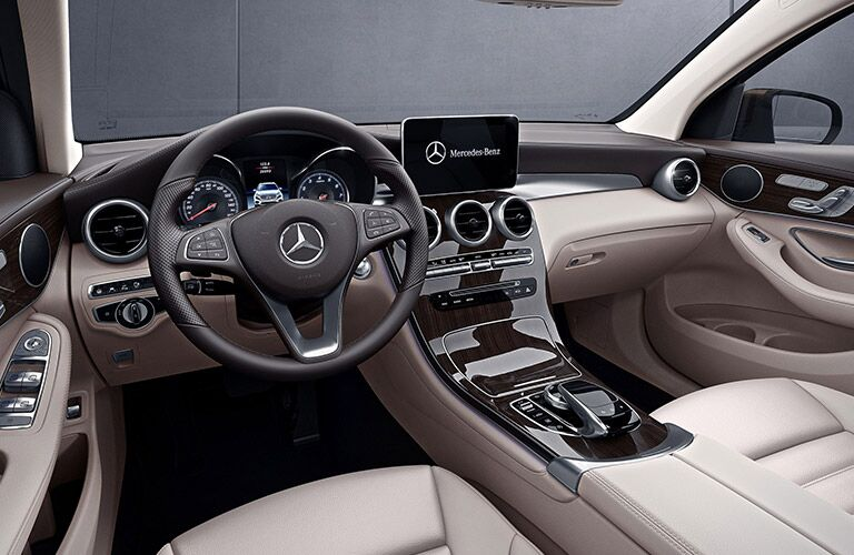 2019 MB GLC Coupe interior front cabin steering wheel and dashboard