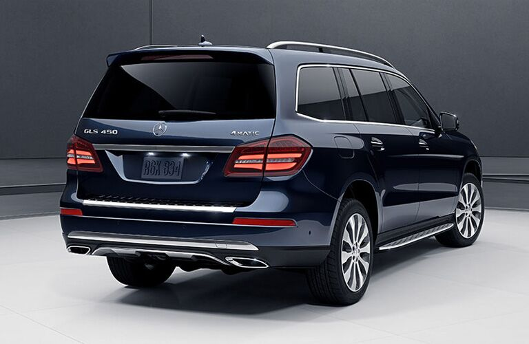 2019 MB GLS 450 4MATIC exterior back fascia and passenger side
