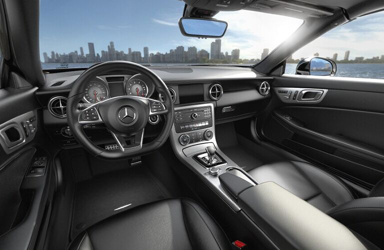 2019 MB SLC 300 Roadster interior front cabin steering wheel and dashboard