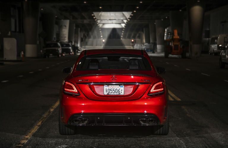 2019 MB C-Class exterior back fascia indoors with dramatic lighting