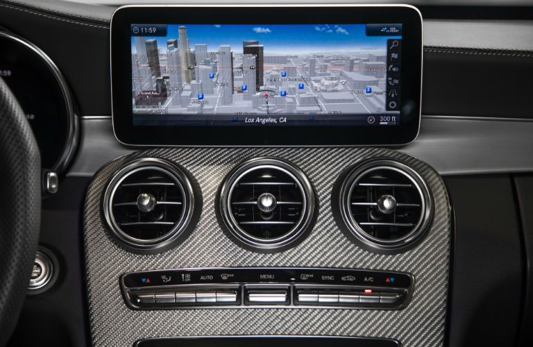 2019 MB C-Class interior close up of touchscreen display