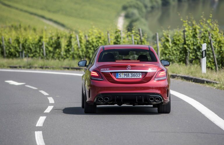 2019 MB AMG C 43 exterior back fascia on road