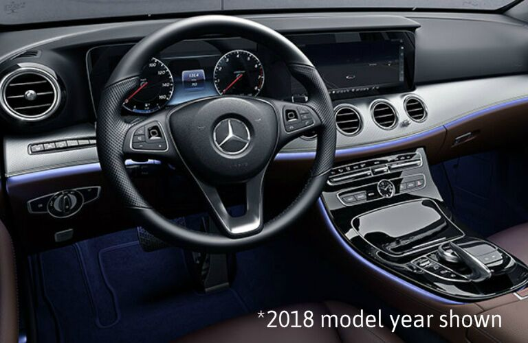 2019 Mercedes-Benz E-Class Wagon steering wheel and dashboard