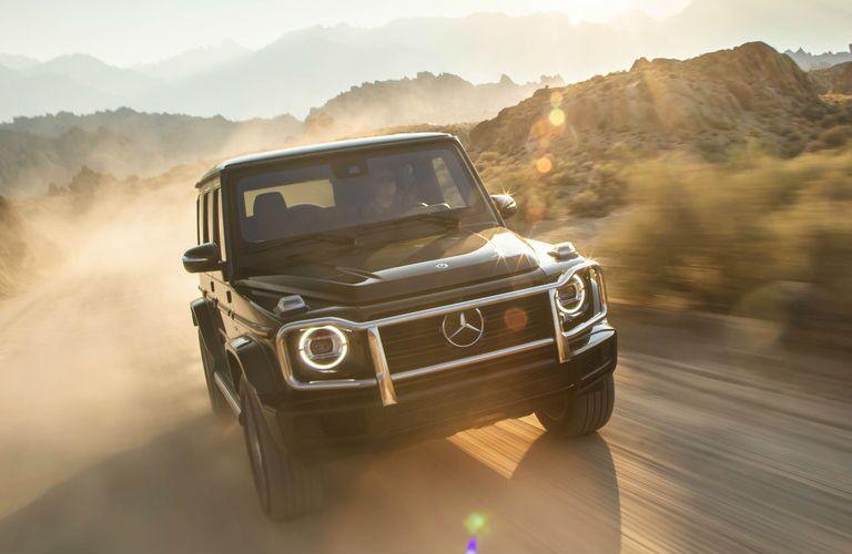 2019 Mercedes-Benz G-Class SUV driving through desert
