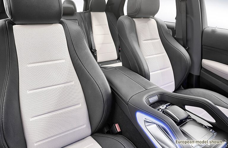 2020 MB GLE SUV interior front cabin looking back at all seats
