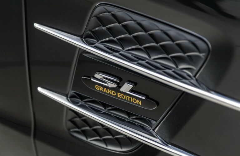2020 MB SL Grand Edition close up of the SL Grand Edition badging