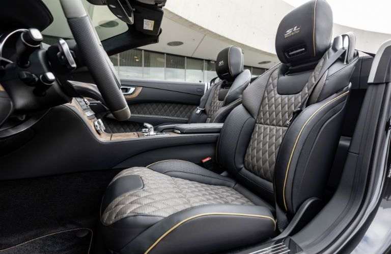 2020 MB SL Grand Edition interior low side view of seats and steering wheel