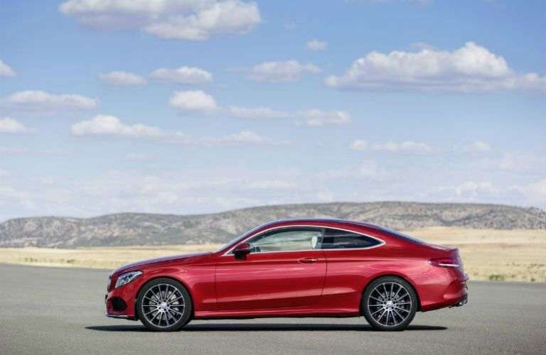 2017 C-Class Coupe in Red