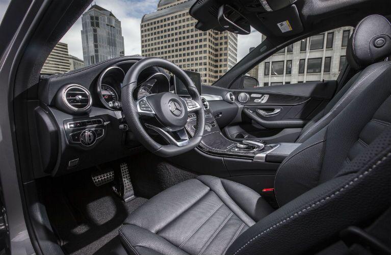 2015 Mercedes-Benz C-Class Black Leather Interior