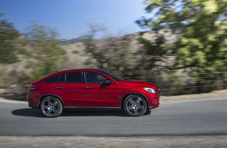 2017 GLE Coupe in Red