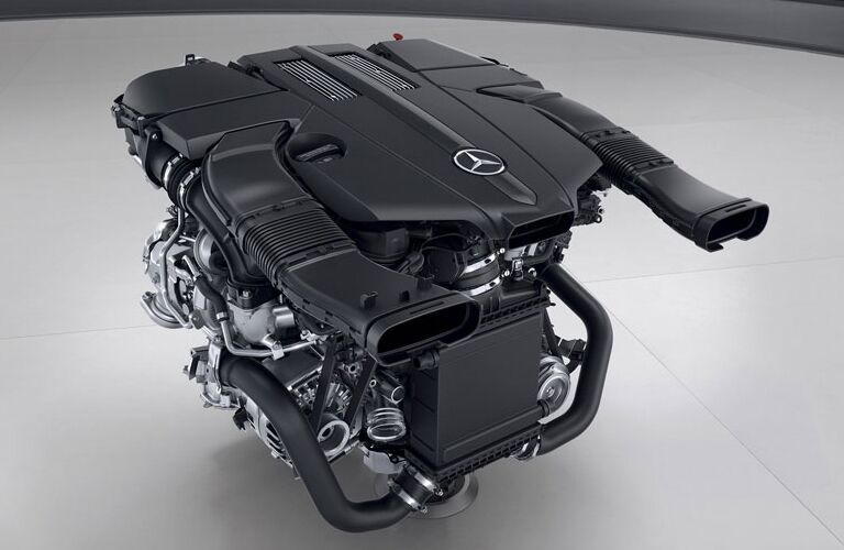 Mercedes-Benz SL-Class Engine Outside Of Car