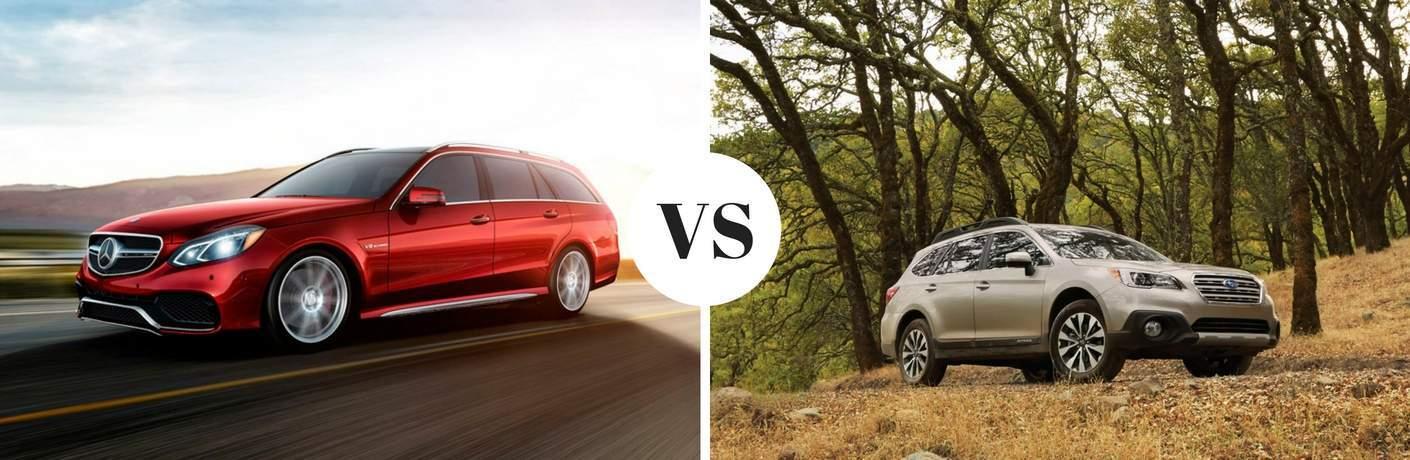 2017 Mercedes-Benz E-Class Wagon vs 2017 Subaru Outback