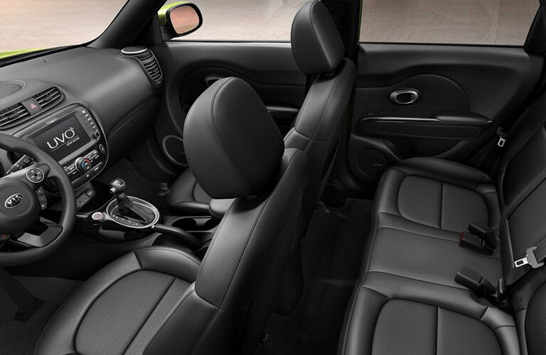 2016 soul black leather interior