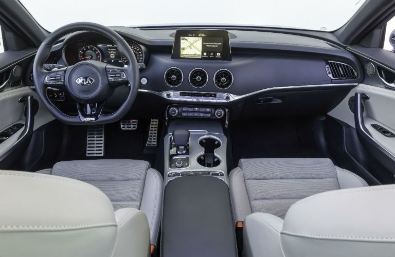 interior of 2018 kia stinger gt2