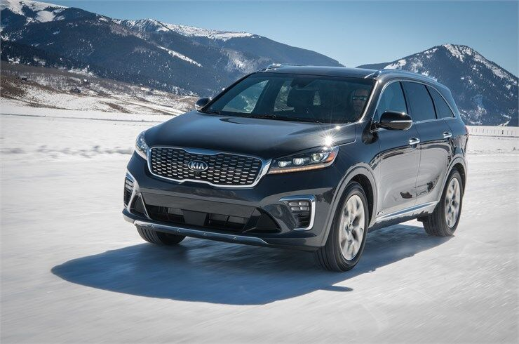 2019 kia sorento driving on snow