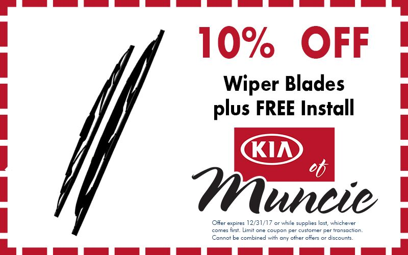 Wiper parts special Kia of Muncie IN