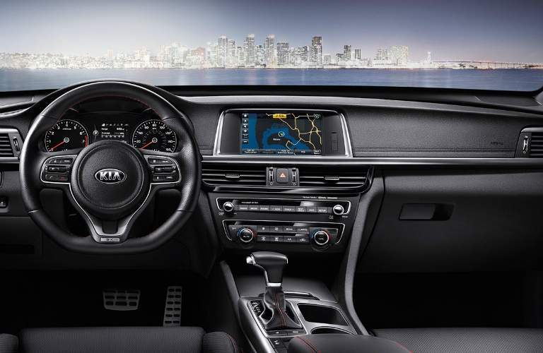 2018 kia optima dashboard design and layout