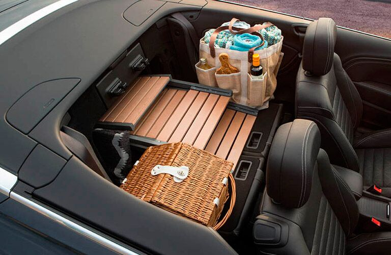 The back seats of the 2016 Buick Cascada can be folded down for storage