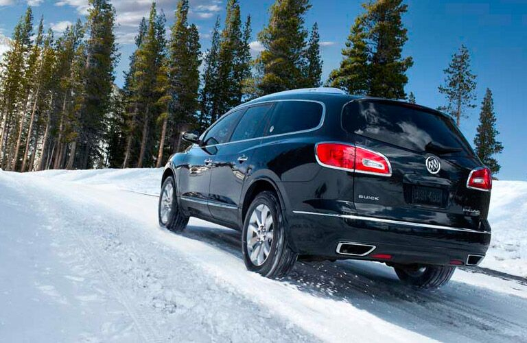 2016 Buick Enclave on a snowy road