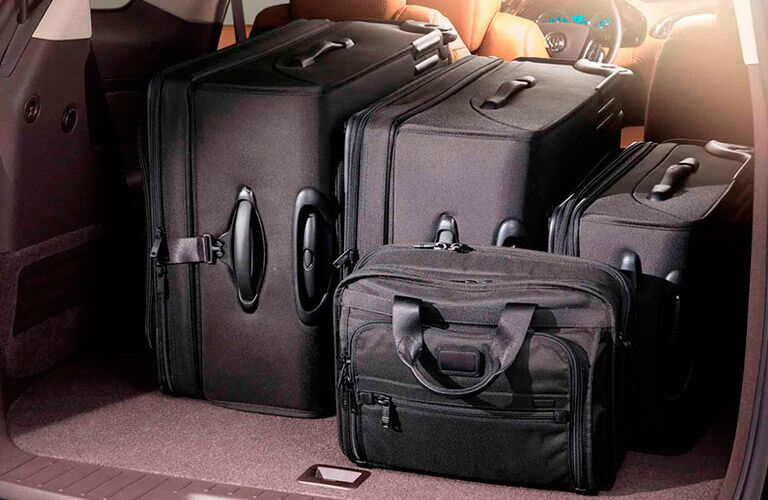 Luggage in 2016 Buick Enclave cargo area