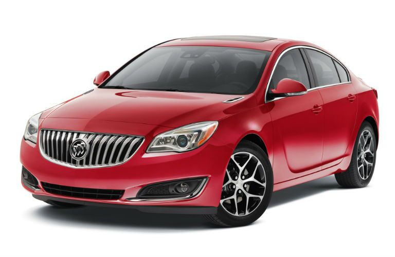 The now contemporary 2016 Buick Regal is sporty and stylish in red