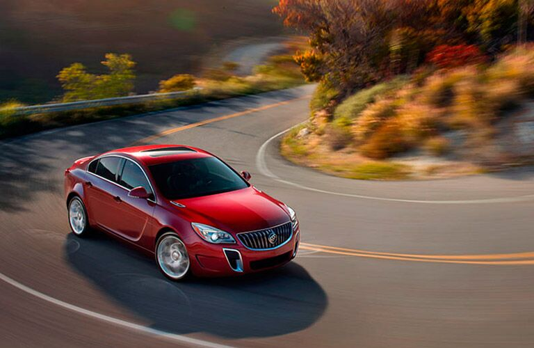 Red 2016 Buick Regal on highway