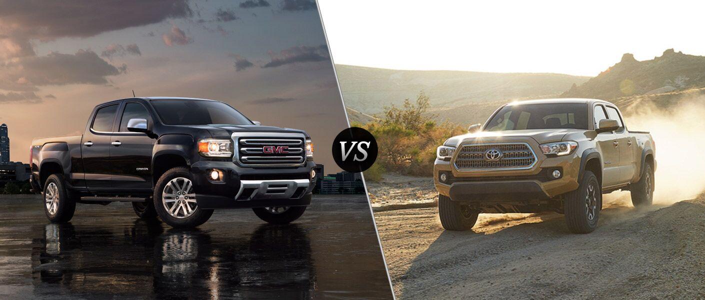 2016 GMC Canyon vs 2016 Toyota Tacoma
