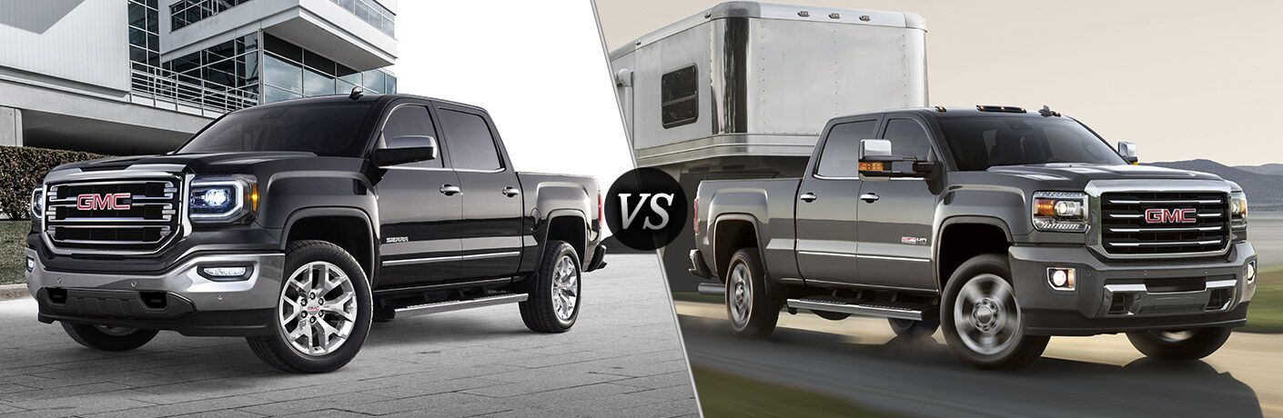 2016 GMC Sierra 1500 vs 2016 GMC Sierra 2500HD