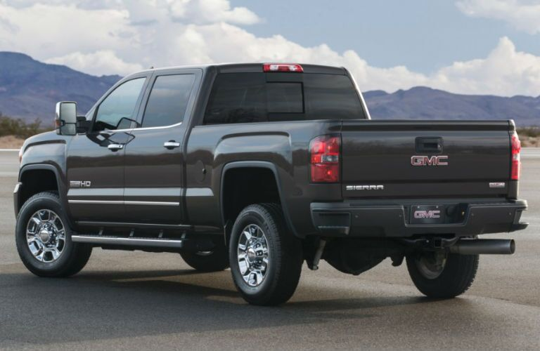 Rear profile of 2016 GMC Sierra 2500HD