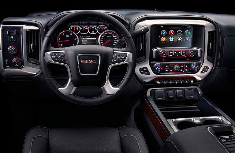 Front dash of 2016 GMC Sierra 2500HD