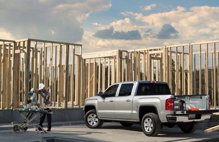 2016 GMC Sierra at construction site
