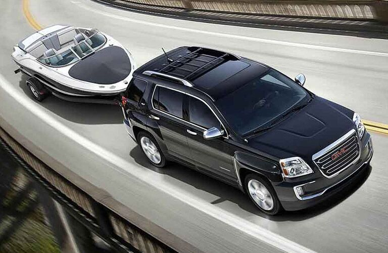 2016 GMC Terrain towing a boat