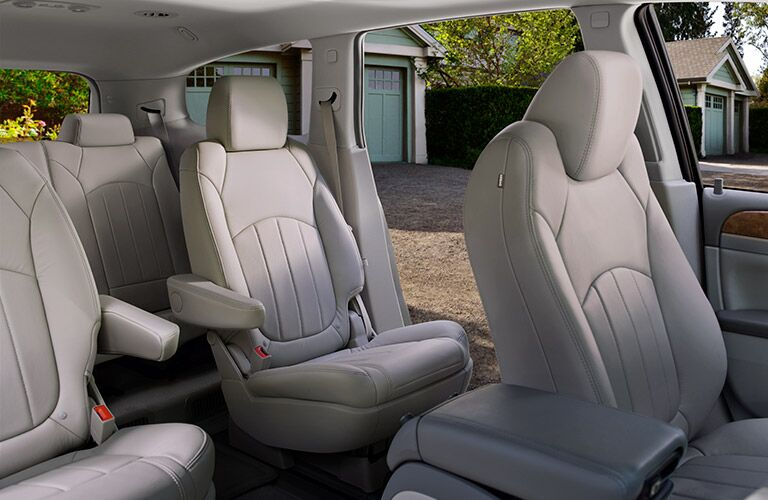 Interior seating in 2017 Buick Enclave