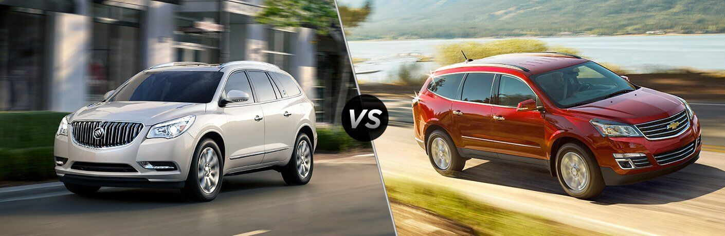 2017 buick enclave vs 2017 chevy traverse