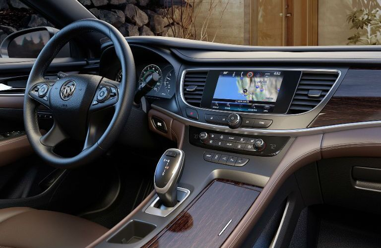 2017 buick lacrosse interior dashboard touchscreen wood grain style materials