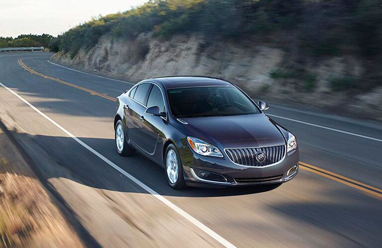 2017 Buick Regal on the highway