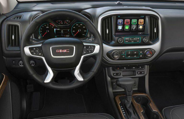 2017 gmc canyon denali interior touchscreen steering wheel dashboard