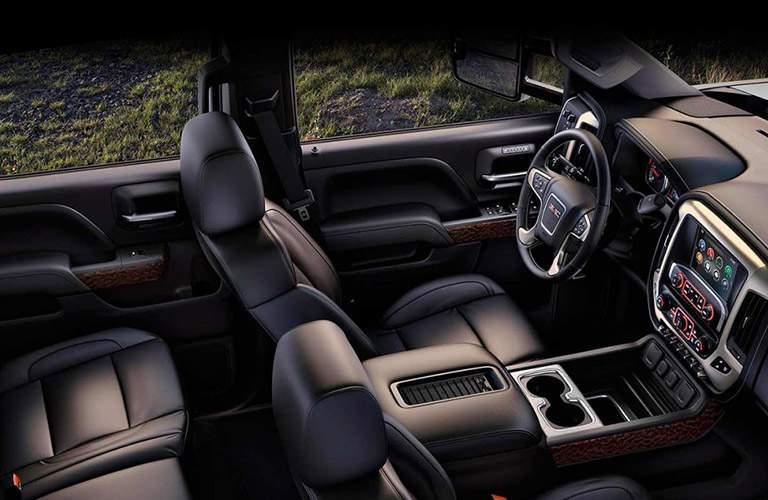 2017 gmc sierra 2500hd interior seating leather seats dashboard