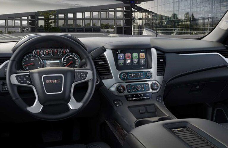 2017 gmc yukon interior dashboard touchscreen steering wheel