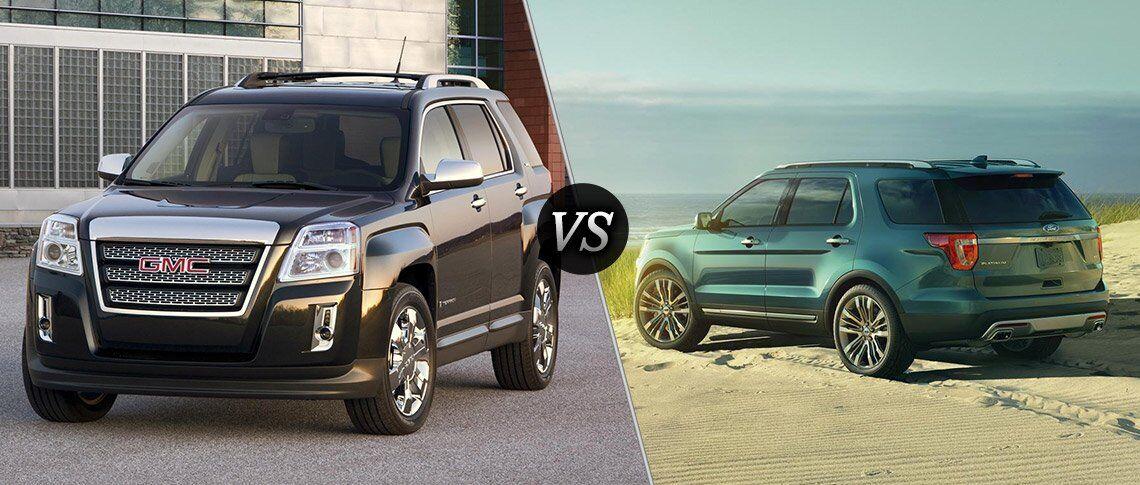 2017 gmc terrain vs 2017 ford explorer