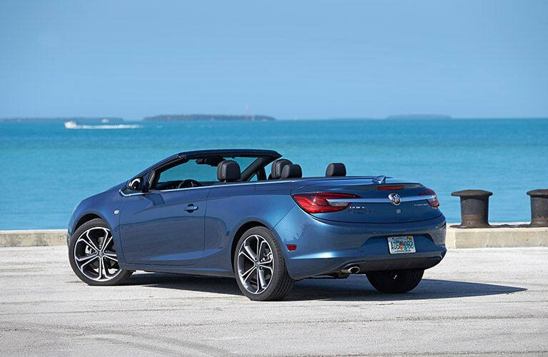 Blue 2017 Buick Cascada facing the ocean