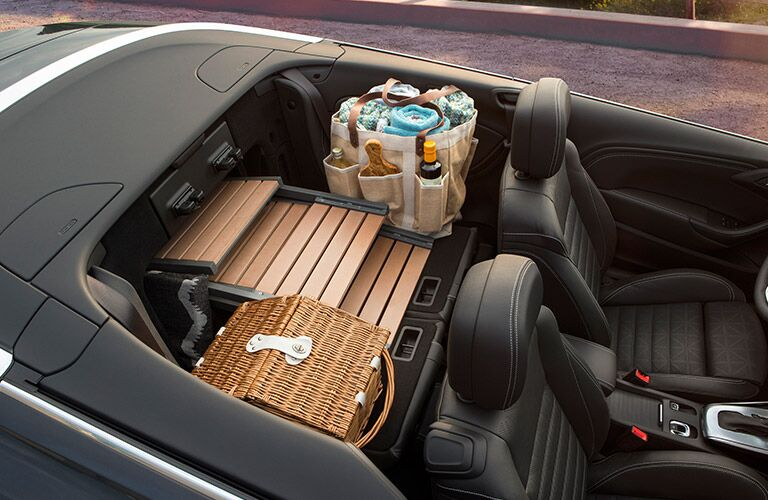 Collapsible back seats in 2017 Buick Cascada