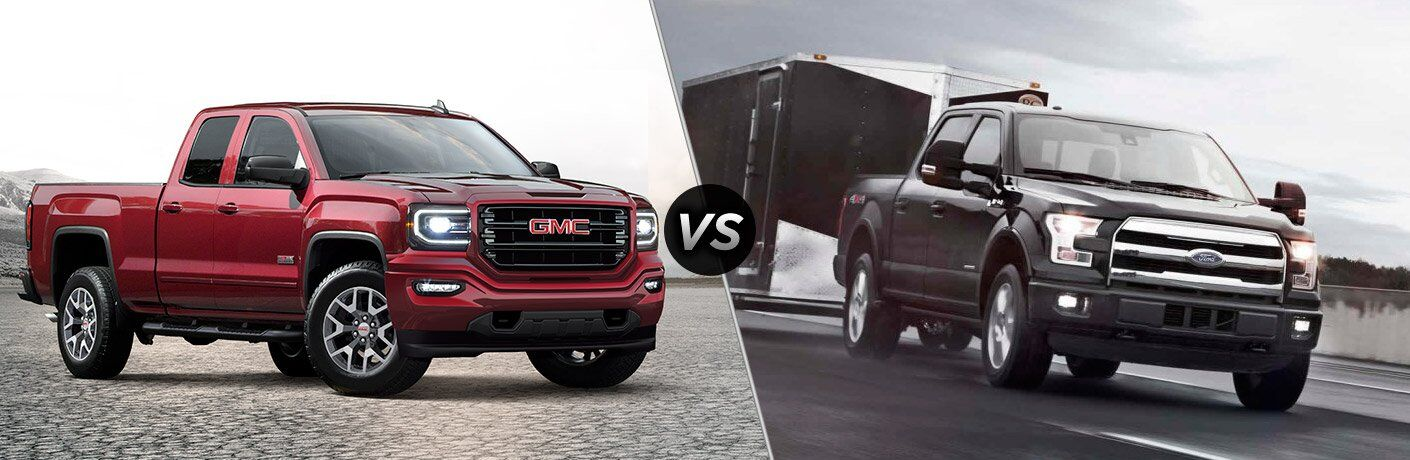 2017 gmc sierra vs 2017 ford f 150. Black Bedroom Furniture Sets. Home Design Ideas
