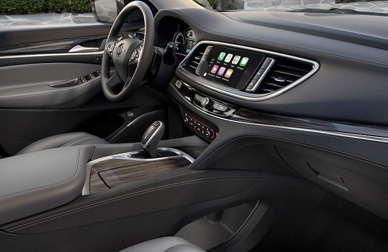 Side view of the drivers cockpit of the 2018 Buick Enclave