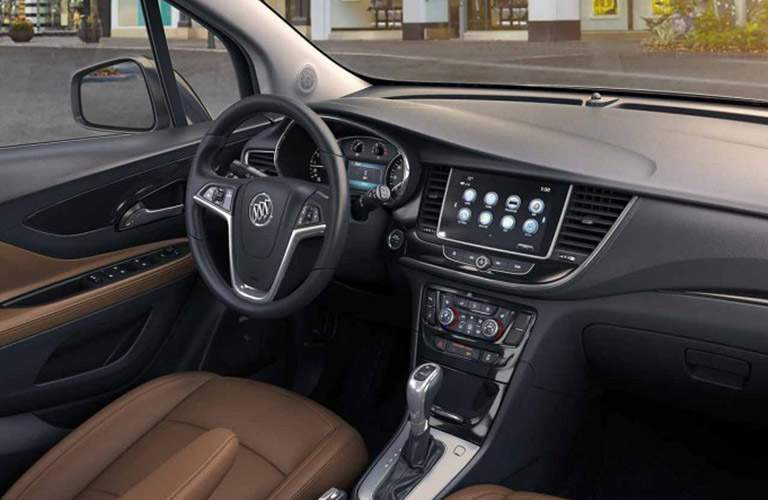 Driver's cockpit of the 2018 Buick Encore