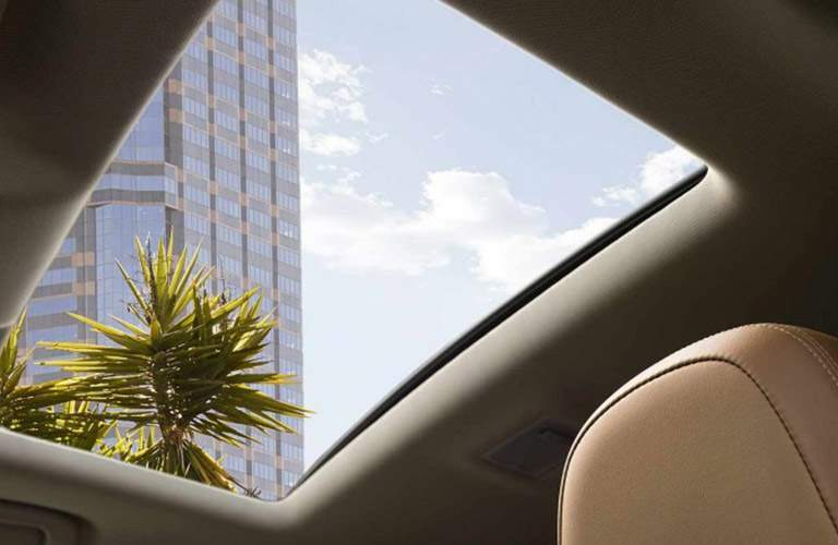 Looking out the sunroof of the 2018 Buick Encore