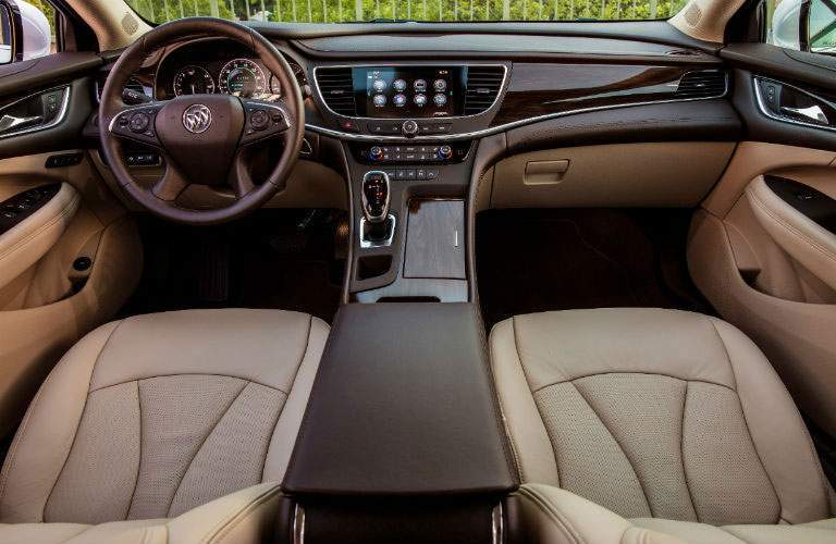 View of the front seats in the 2018 Buick LaCrosse