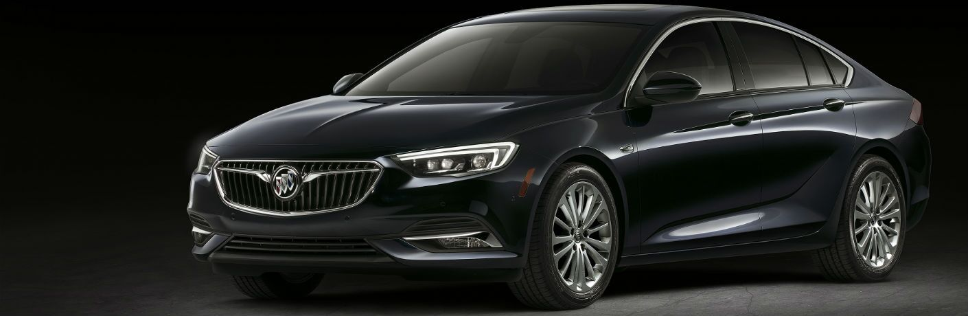 black 2018 buick regal sportback against black background